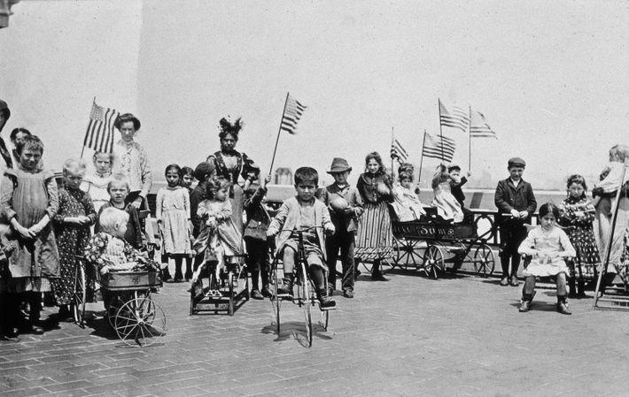 Imigrantes em Ellis Island