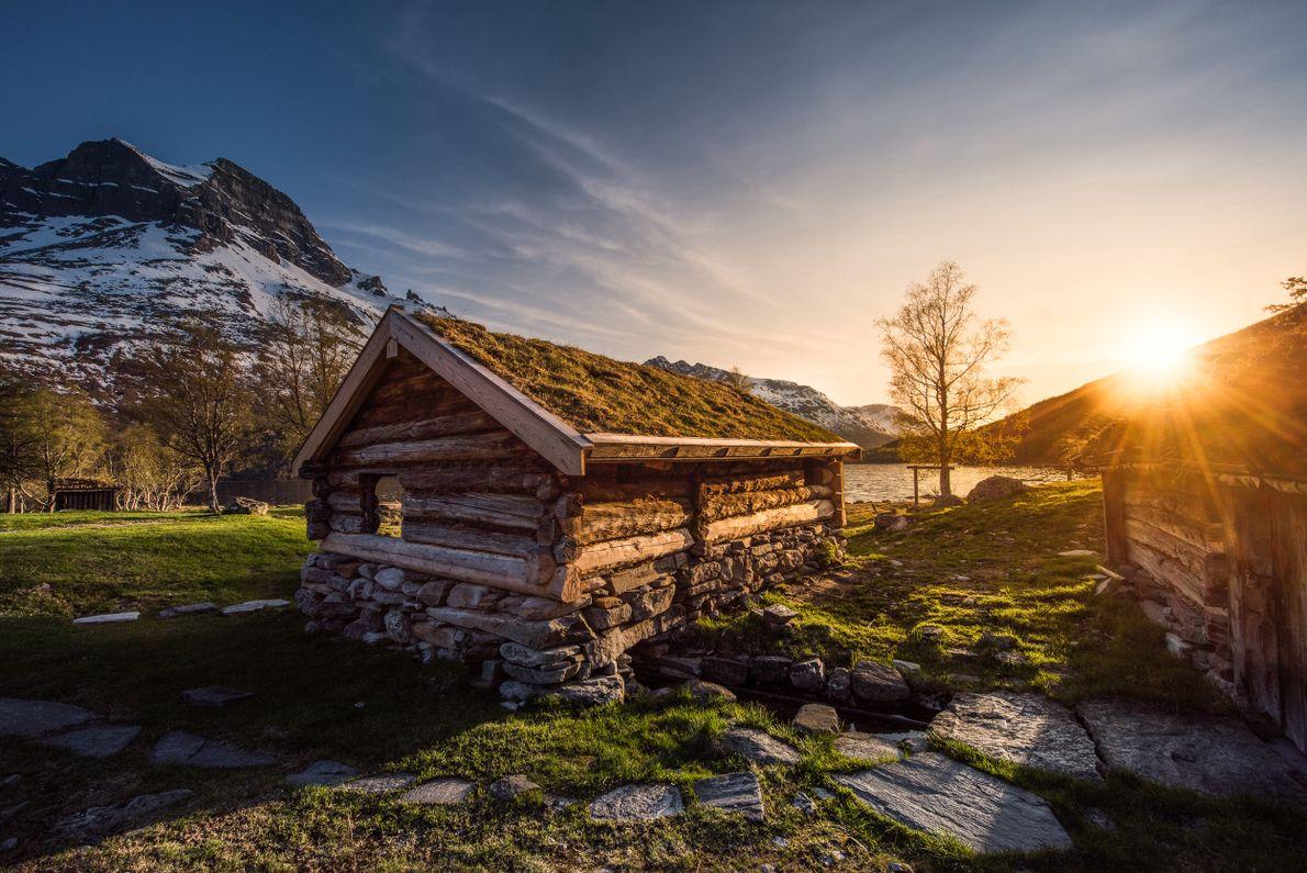 antiga cabana Renndølsetra, em Innerdalen