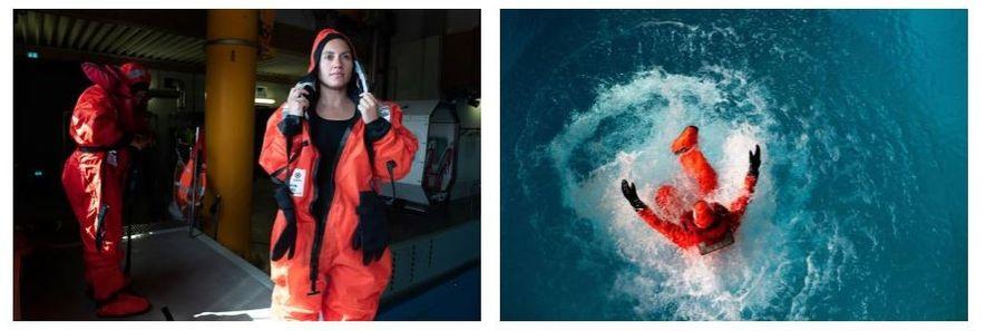 Esquerda: Enquanto estiver a bordo do Polarstern, Maria Josefa Verdugo vai fazer investigações para o seu ...