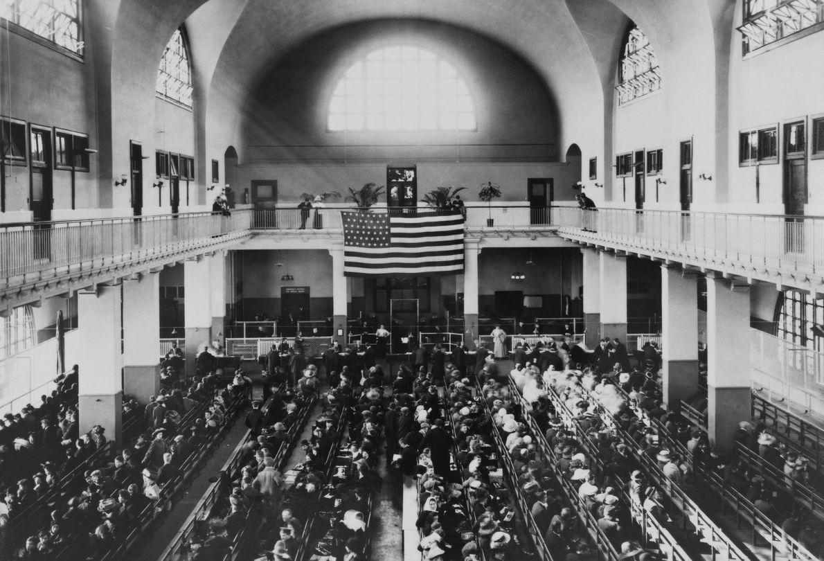 Sala do cartório de Ellis Island