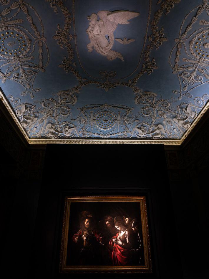 O Martírio de Santa Úrsula (1610), de Caravaggio, na Galleria d'Italia de Nápoles.