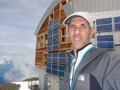 João Garcia nos Alpes franceses.
