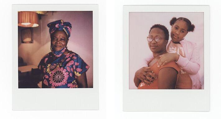 Esquerda: Adelaide Costa, 59 anos, posa para um retrato no seu café. Direita: Alda e Lurdes Pontes, mãe ...