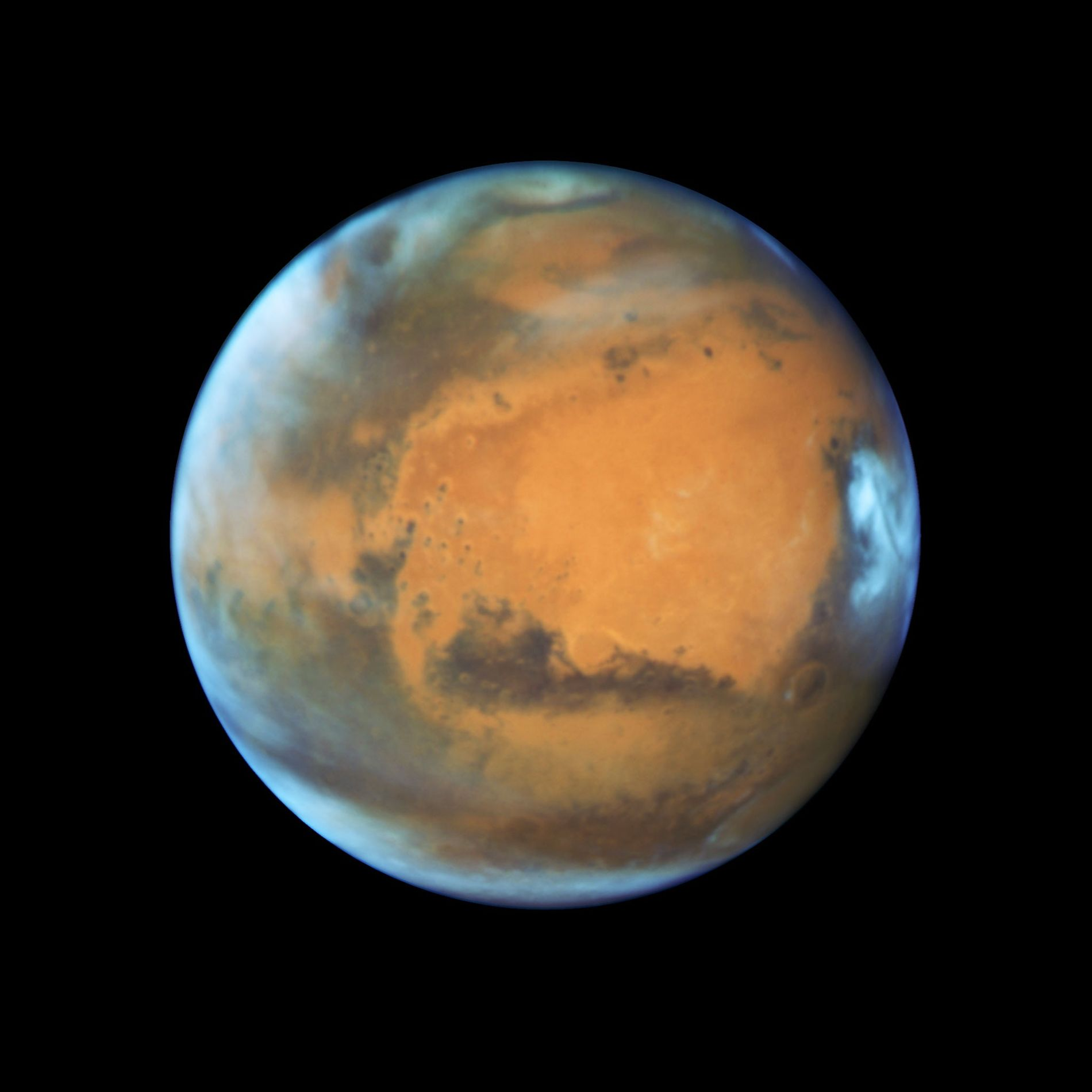 Aspetos da superfície de Marte,