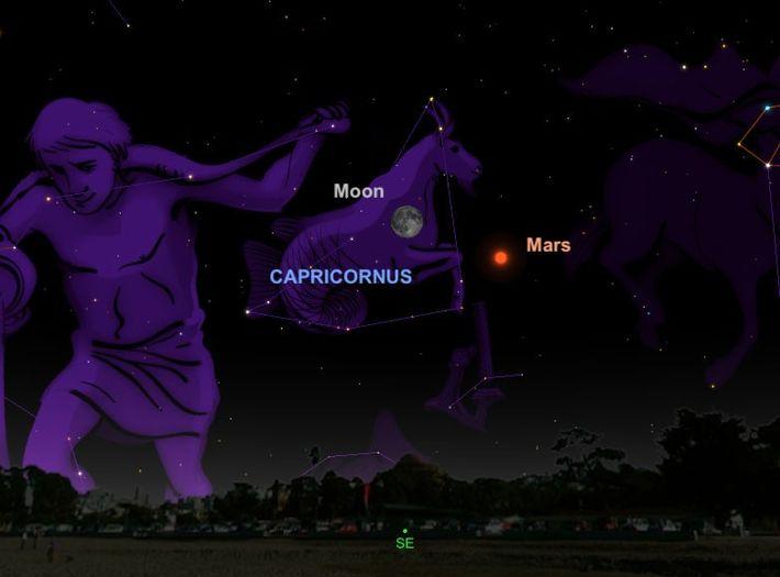 Marte estará no seu melhor momento desde 2003, no dia 27 de julho, situando-se perto da ...