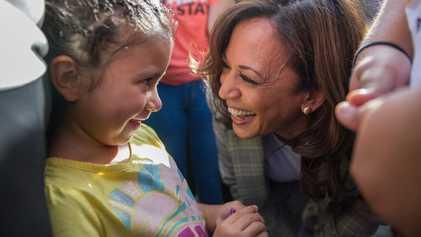 De acordo com as crianças, Kamala Harris é uma inspiração