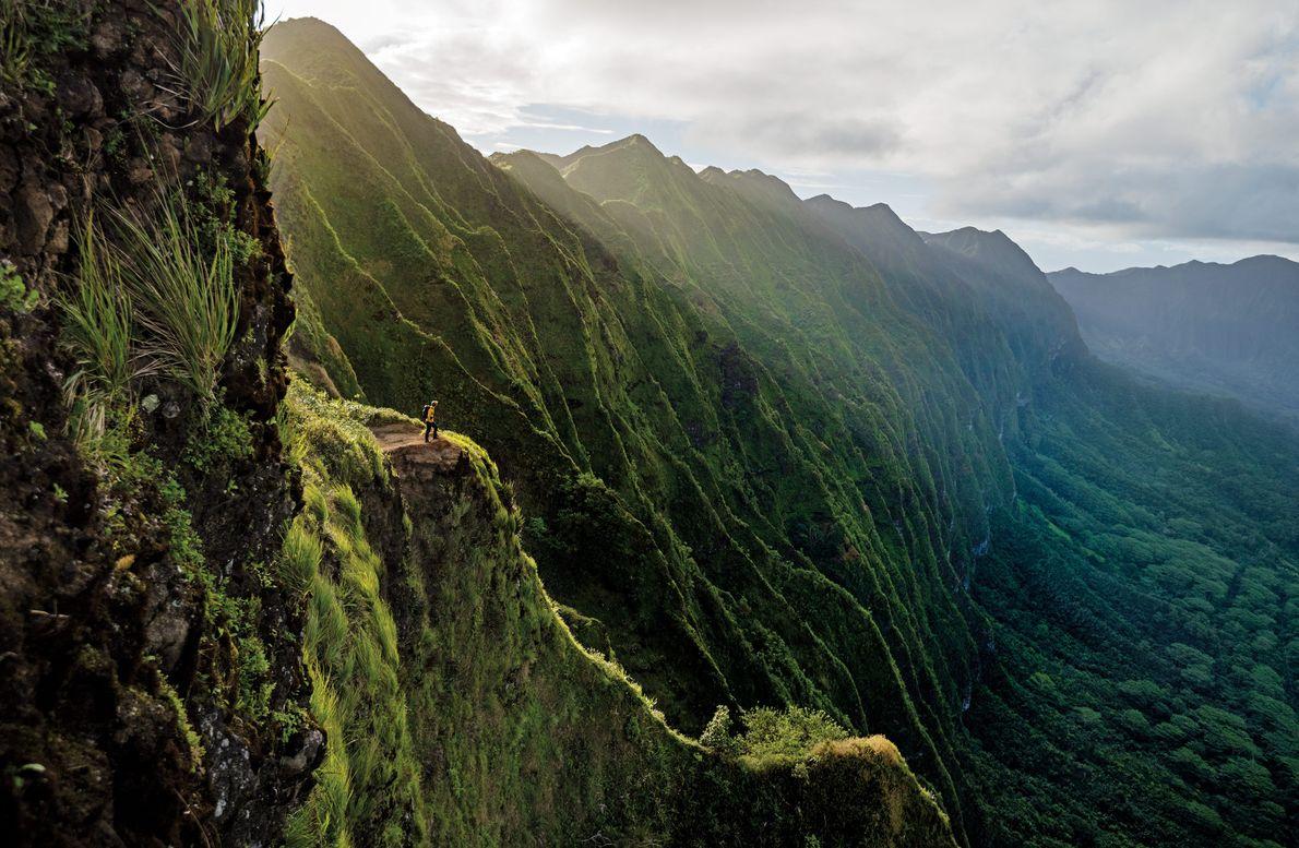 Cordilheira de Ko'olau em Oahu, no Havai