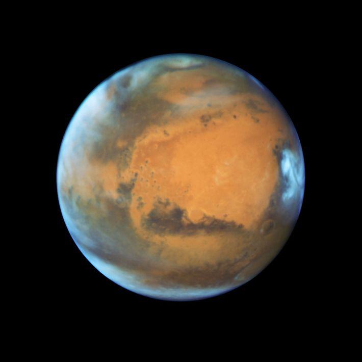 Marte em grande plano