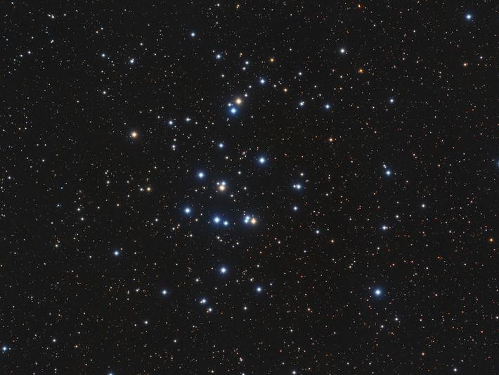 A uns meros 600 anos luz de distância, M44 (ou enxame da Colmeia) é um dos ...