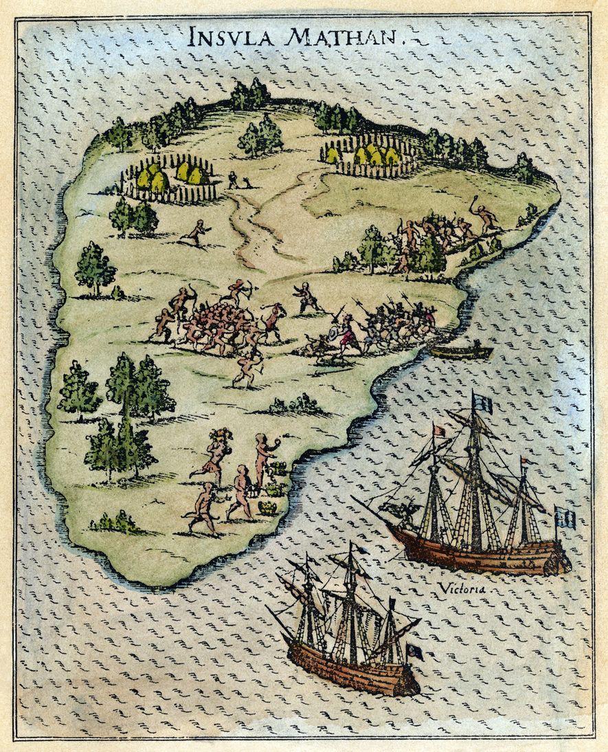 Em março de 1521, a expedição chegou às Filipinas, onde as relações com os povos indígenas ...