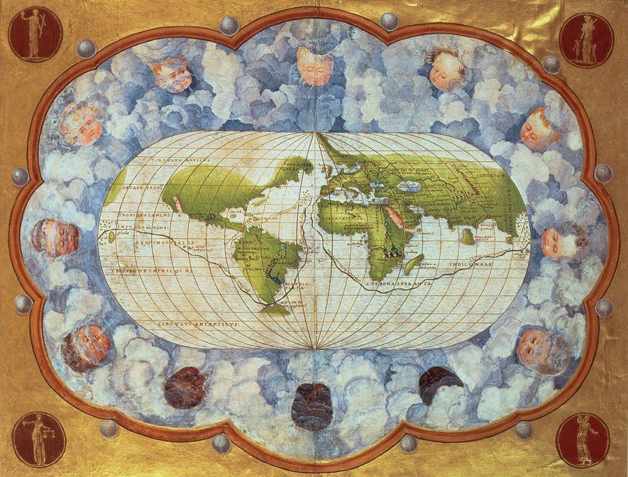 Um mapa de 1545 traça a rota da viagem mundial de Magalhães – um marco no ...