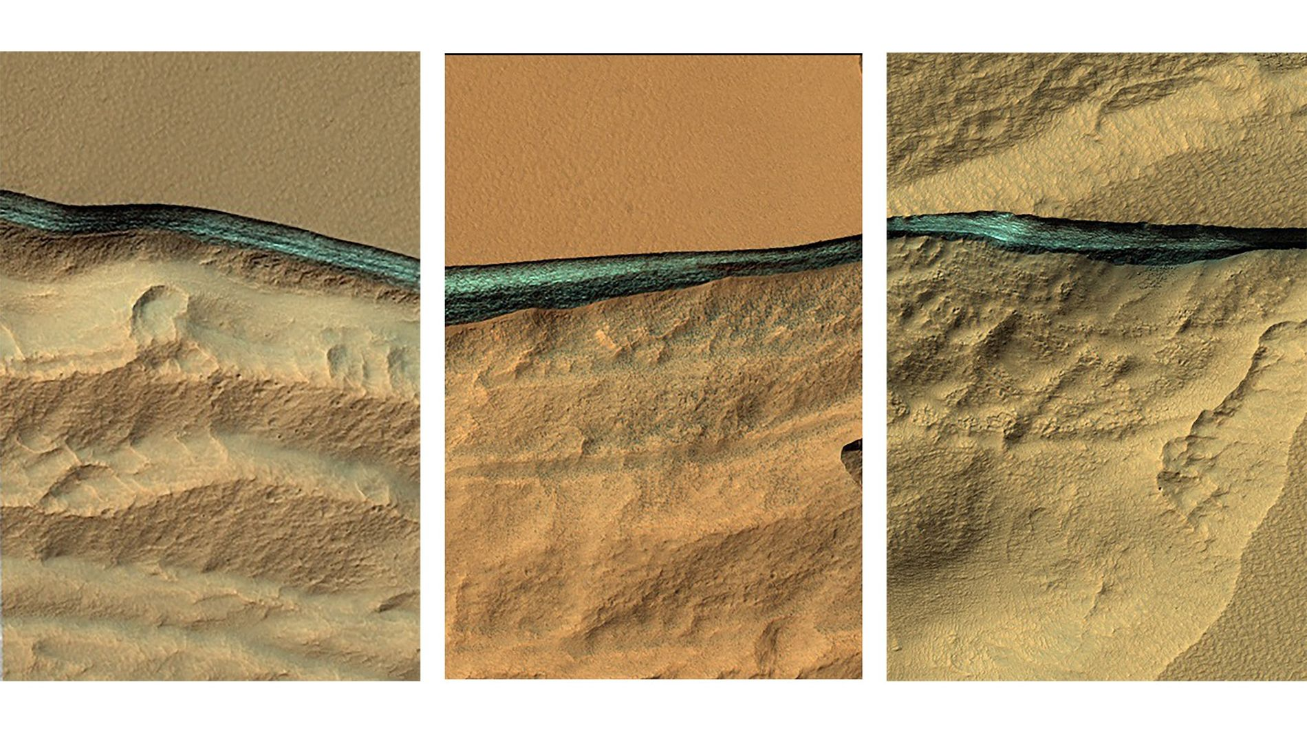 Camadas de gelo em Marte