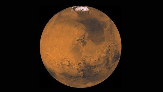 As famílias vão ter muitas oportunidades para observar o planeta vermelho – aqui mostrado numa imagem ...