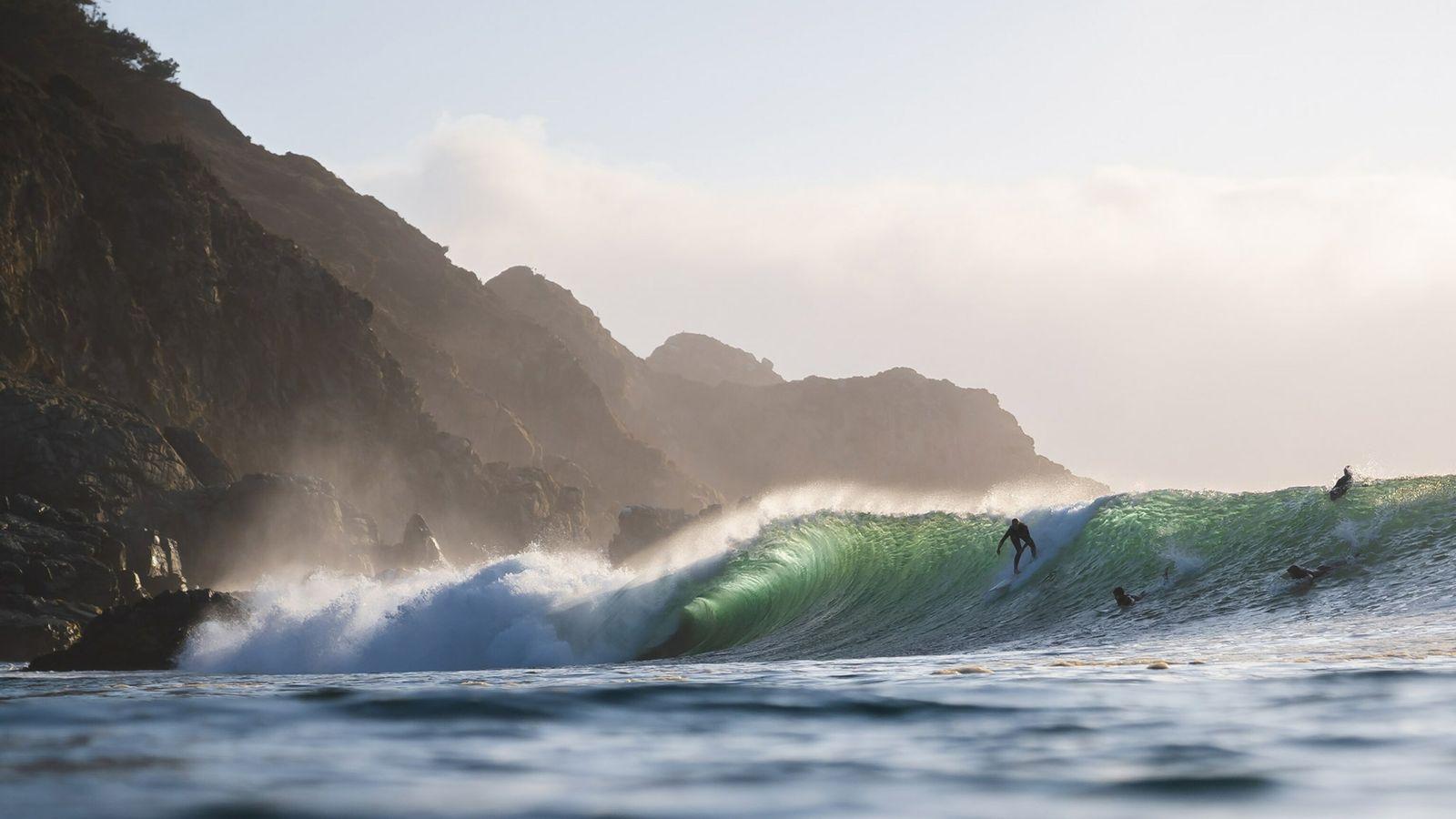 Chile surfing landscape