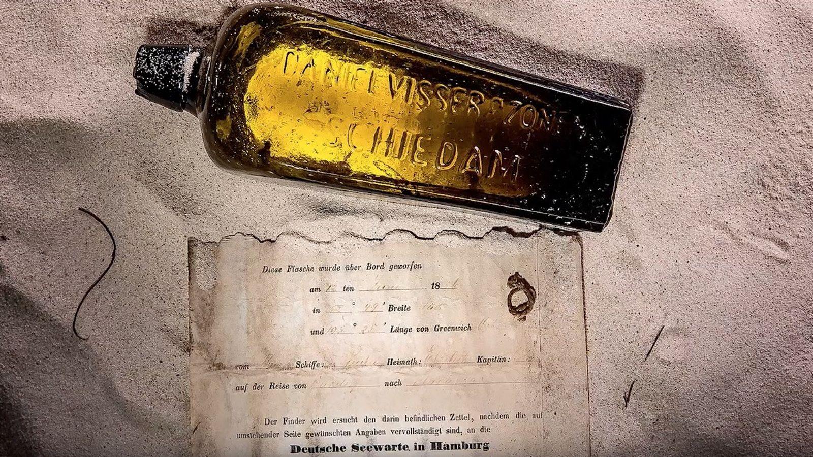 mensagem dentro de uma garrafa