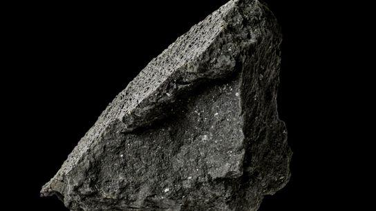 pedaço do meteorito