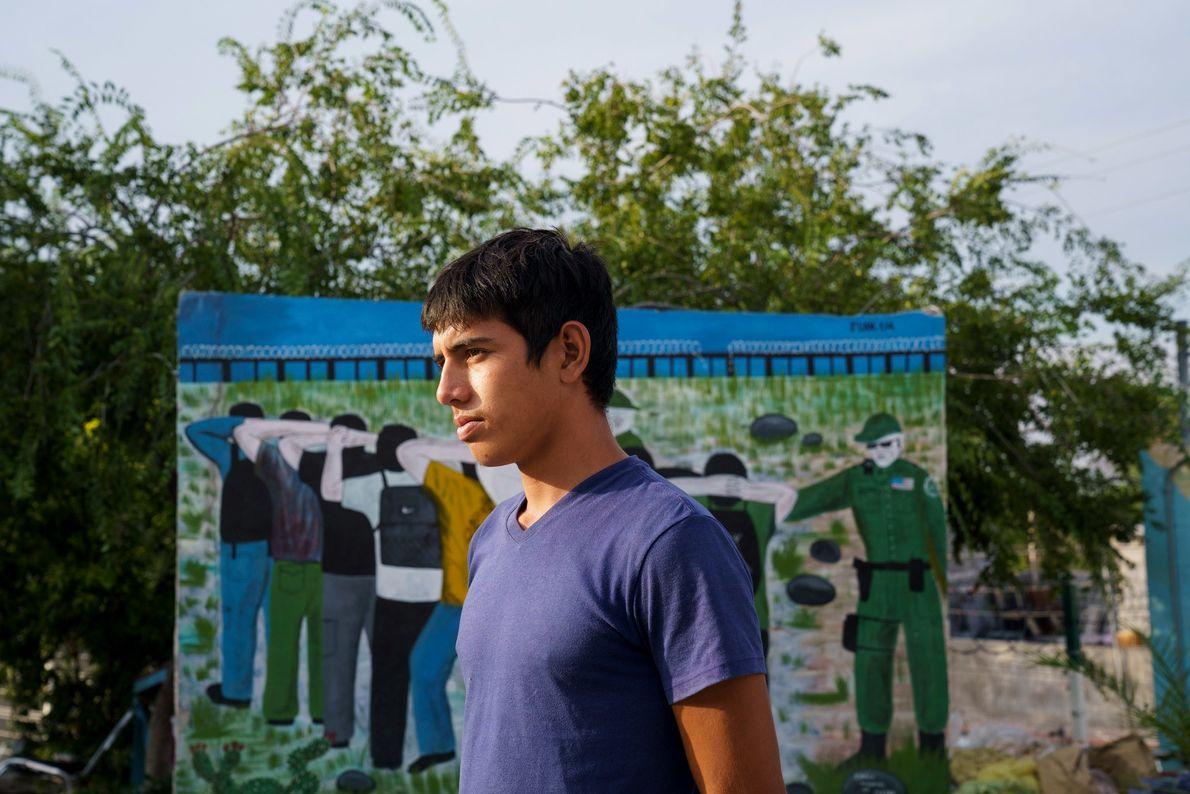 No caminho das Honduras para os Estados Unidos, Olman, de 19 anos, ficou uns dias no ...