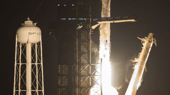 lançamento da missão Crew-2 da SpaceX