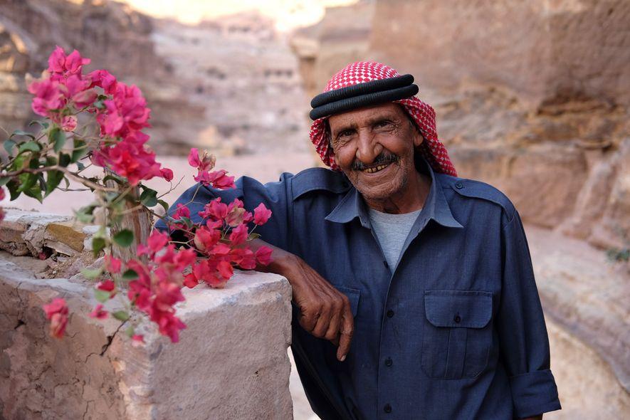 Beduíno a viver em Petra
