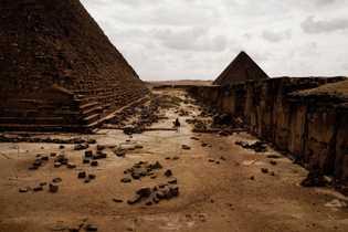 As pirâmides de Giza. Cairo, Egito. Dezembro de 2013.