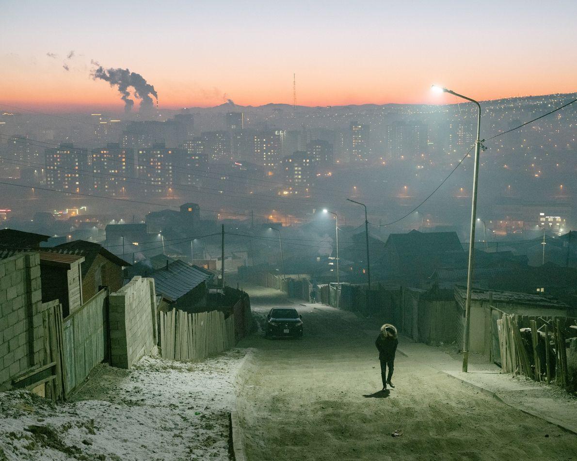 Inverno na Mongólia