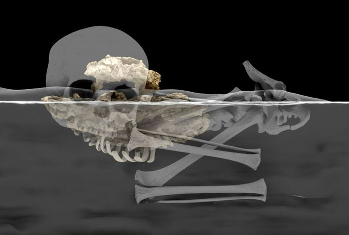 reconstrução virtual dos restos mortais