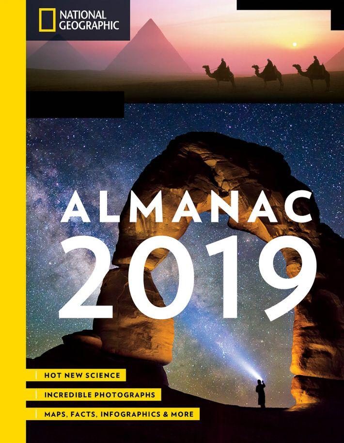 O Almanaque National Geographic 2019 inclui esta e outras trivialidades.