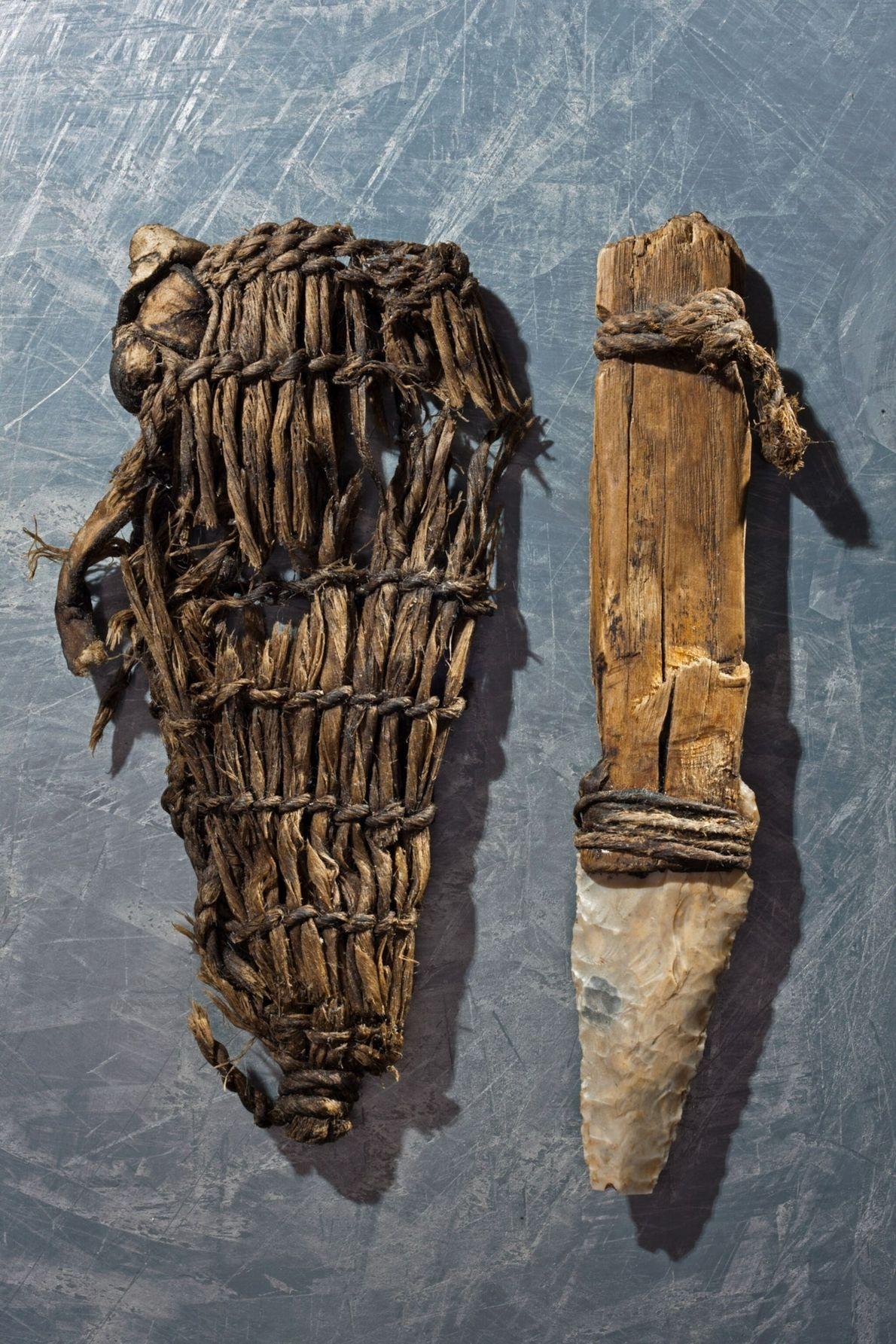 Pertences que Ötzi trazia consigo