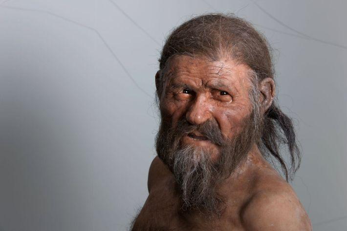 Reconstrução de Ötzi, o Homem do Gelo