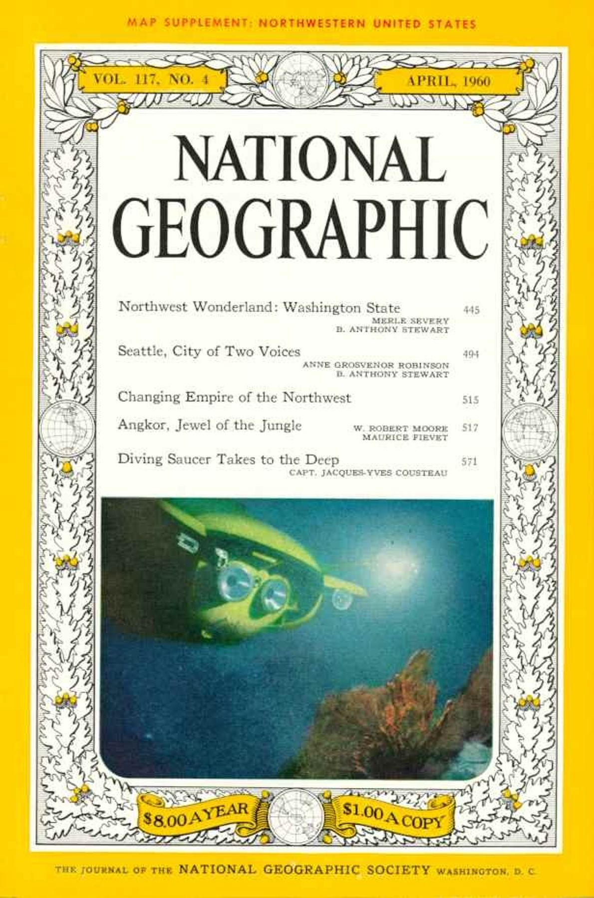 ABRIL DE 1960 — JACQUES COUSTEAU E A NATIONAL GEOGRAPHIC