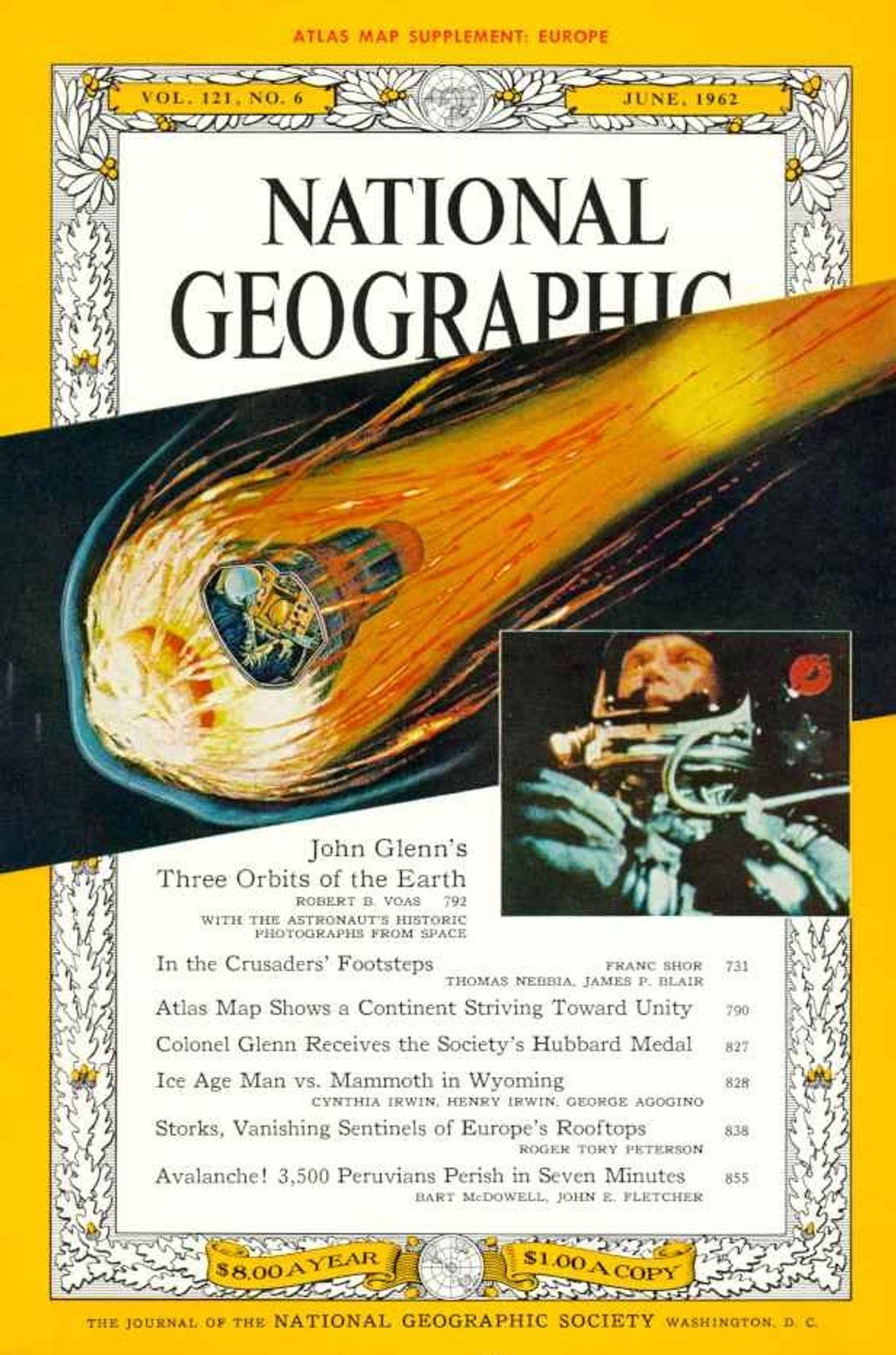 JUNHO DE 1962 — JOHN GLENN ORBITA A TERRA