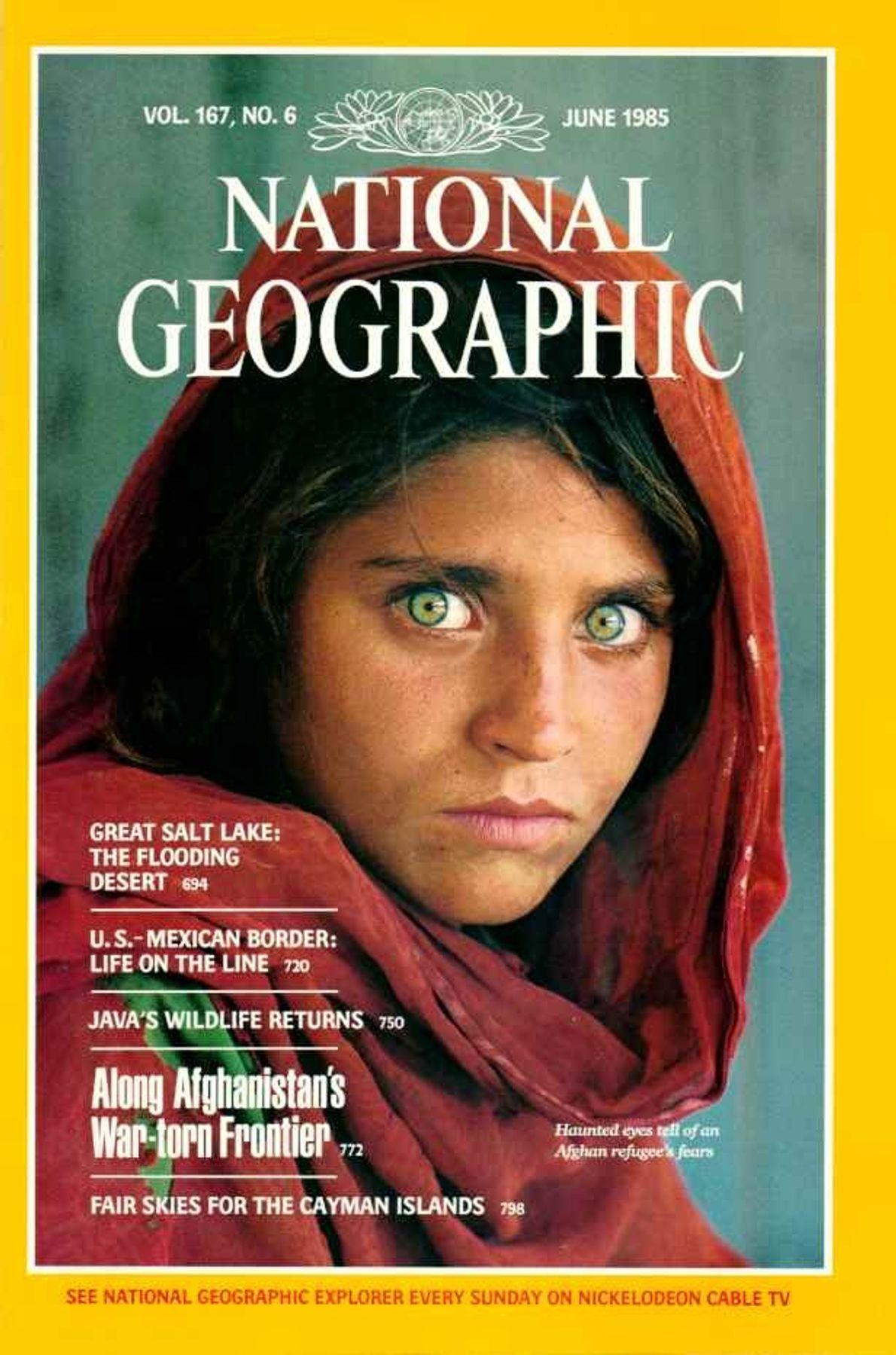 CAPA JUNHO DE 1985 — A MENINA AFEGÃ