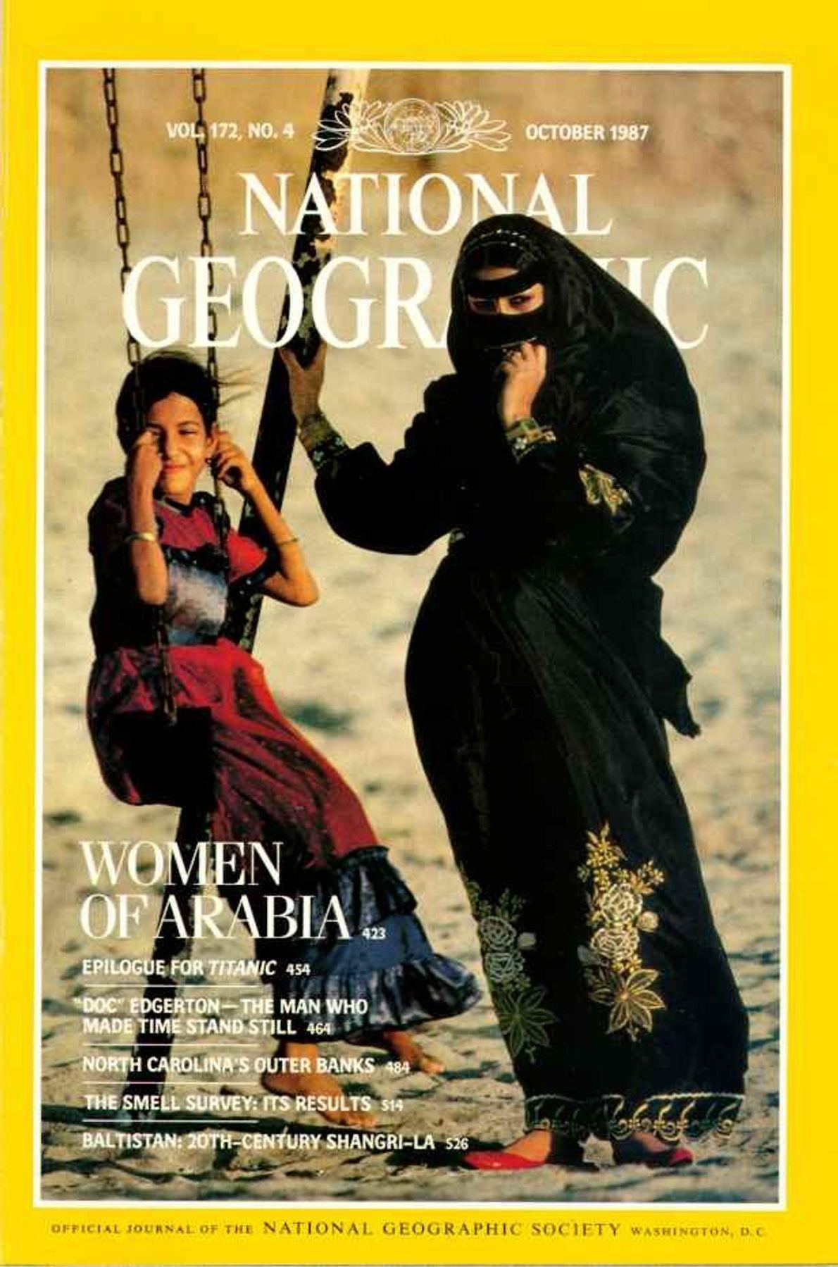 CAPA NG OUTUBRO DE 1987— MULHERES DA ARÁBIA SAUDITA
