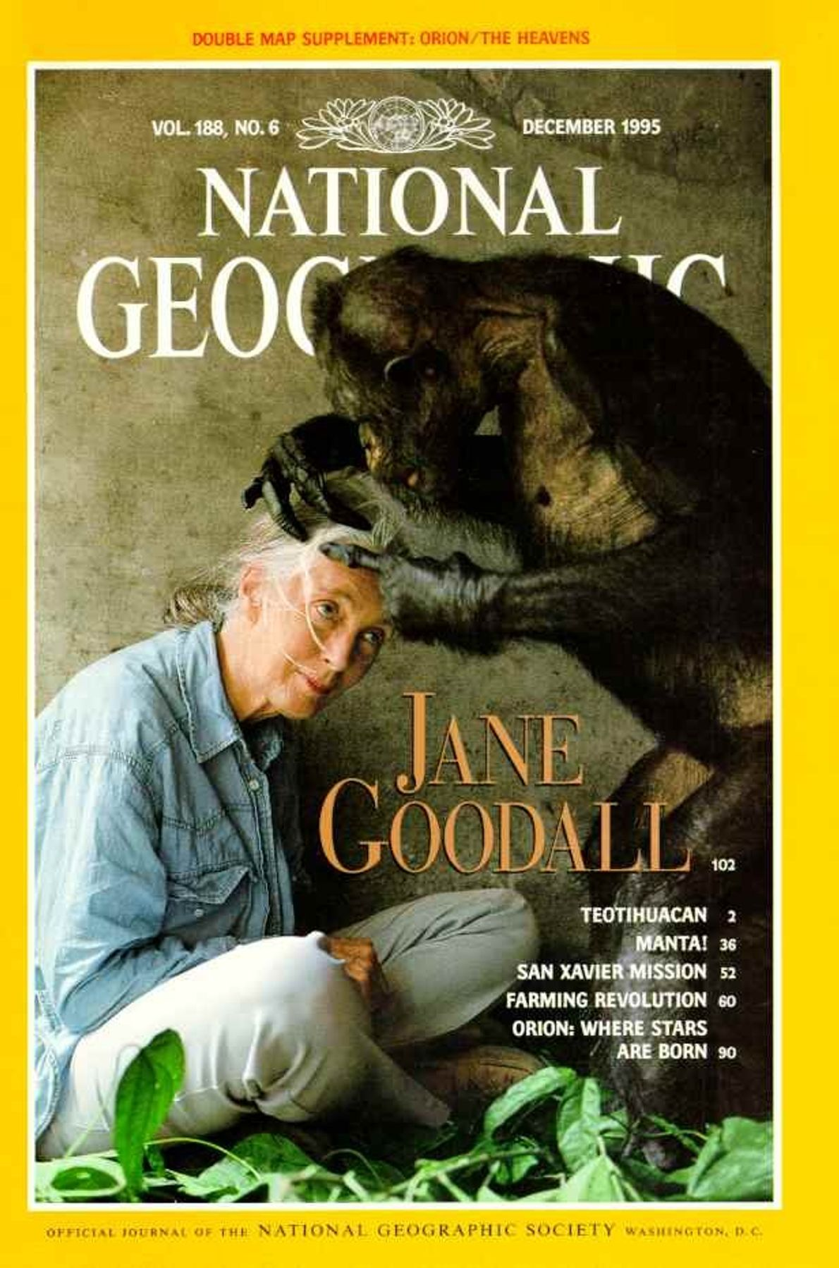 CAPA NG DEZEMBRO DE 1995 — HONORING JANE GOODALL