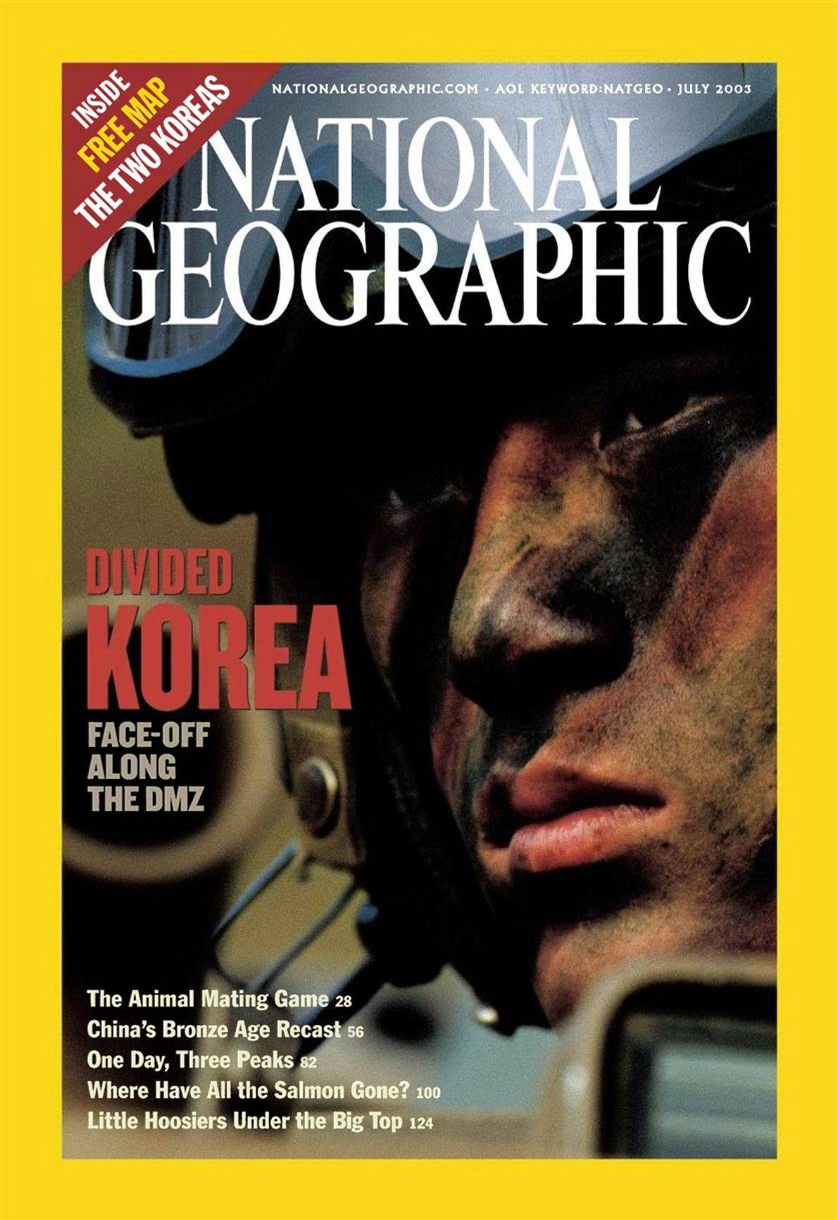 CAPA NG JULHO DE 2003 — COREIA DIVIDIDA