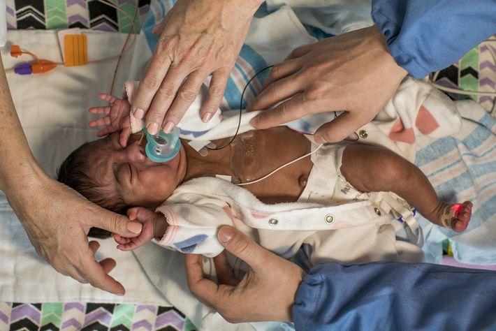 A bebé Genesis nasceu no Hospital Infantil Ann e Robert H. Lurie, em Chicago