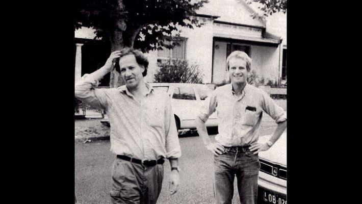 Nomad incorpora fotografias de arquivo, incluindo esta de Werner Herzog e Bruce Chatwin, para contar a ...