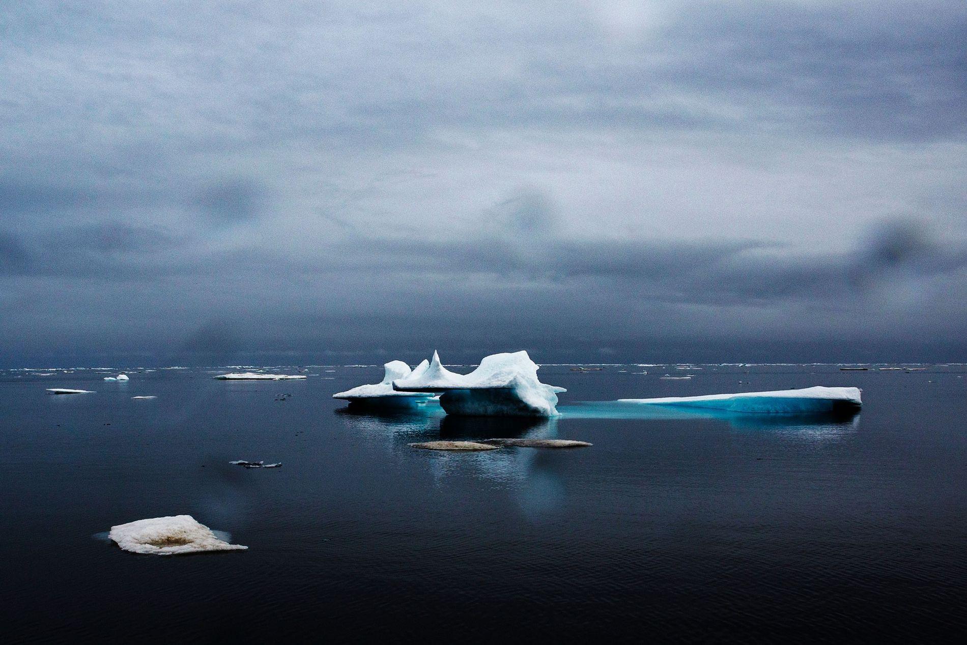 Oceano Ártico em Barrow, no Alasca