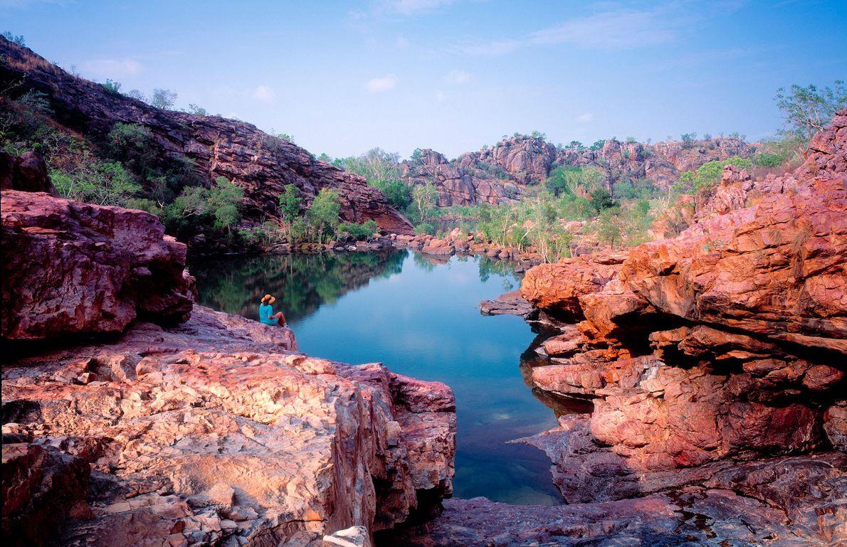 Jarrangbarnmi, ou o Koolpin Gorge, no Parque Nacional de Kakadu, na Austrália.