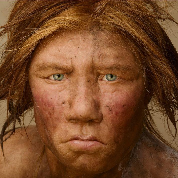 Estes olhos penetrantes pertencem à reconstrução de um Neandertal