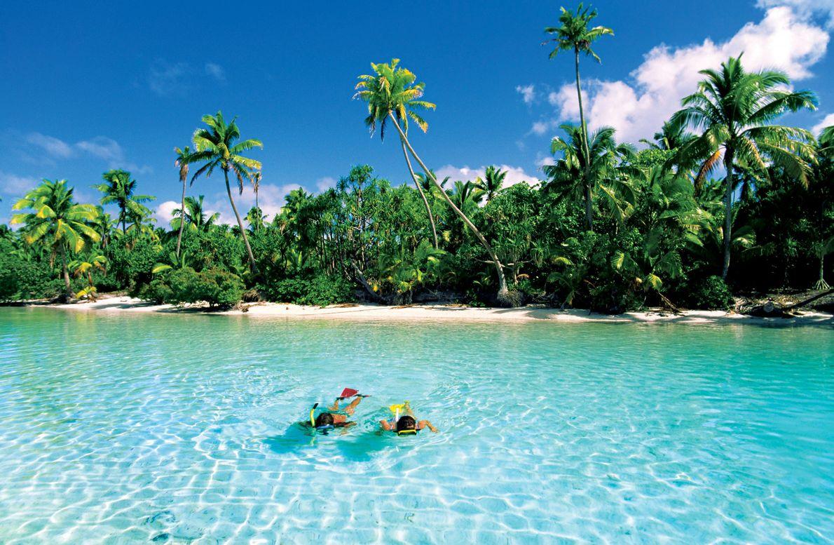 One Foot Island, Aitutaki, Ilhas Cook.