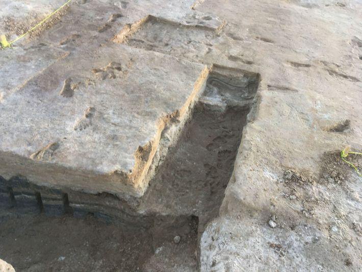 Escavação em White Sands