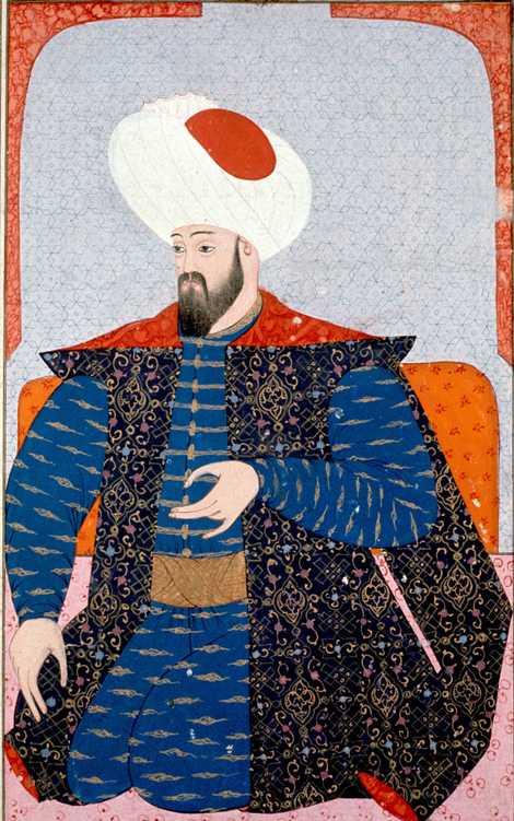 Um retrato do século XVI de Otomano, o primeiro sultão do Império Otomano.