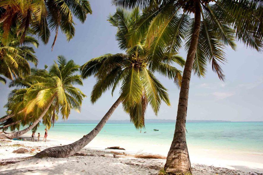 A Ilha Swaraj, uma das Ilhas Andamão da Índia, é conhecida pelas suas praias de areias ...