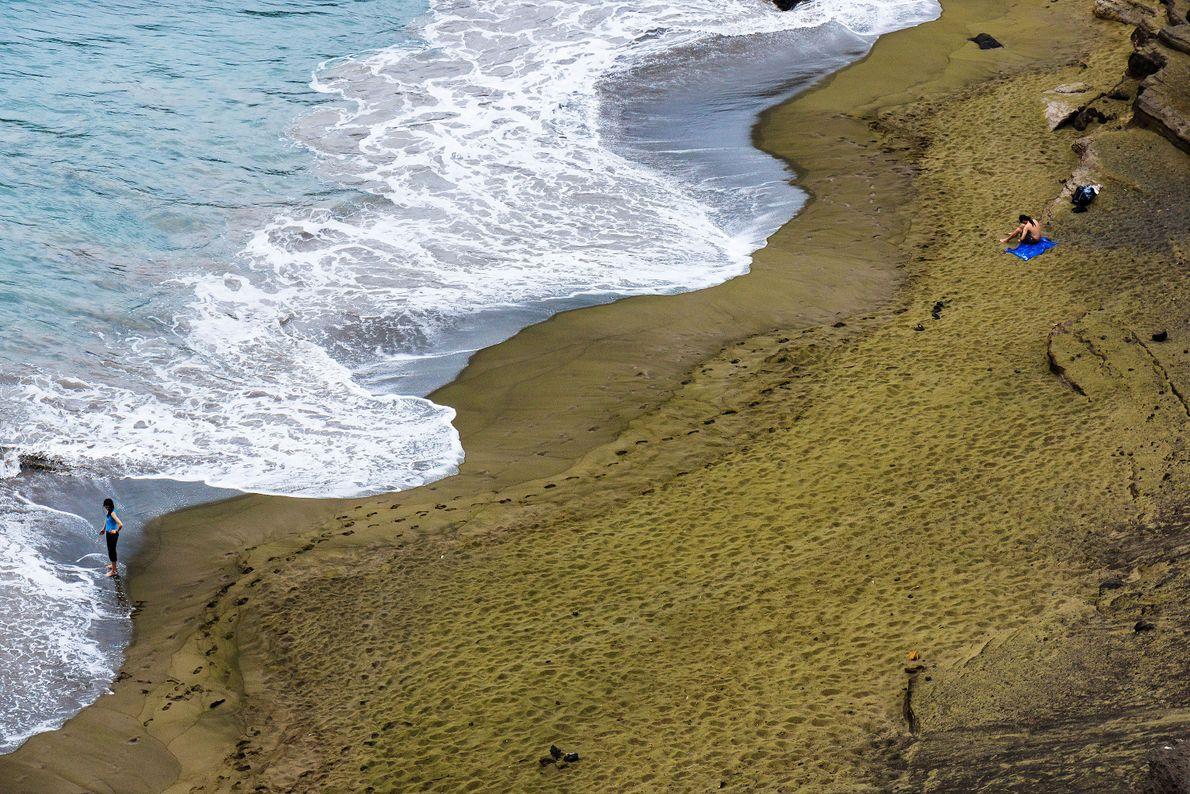 Praia de Papakōlea, Havai.