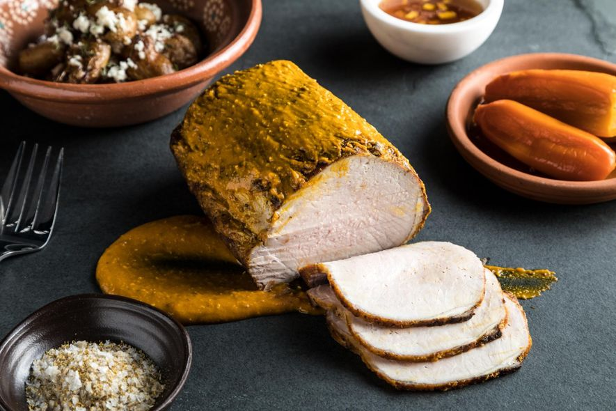 "Lombo de Porco Marinado com ""Pimenta-Aji"""