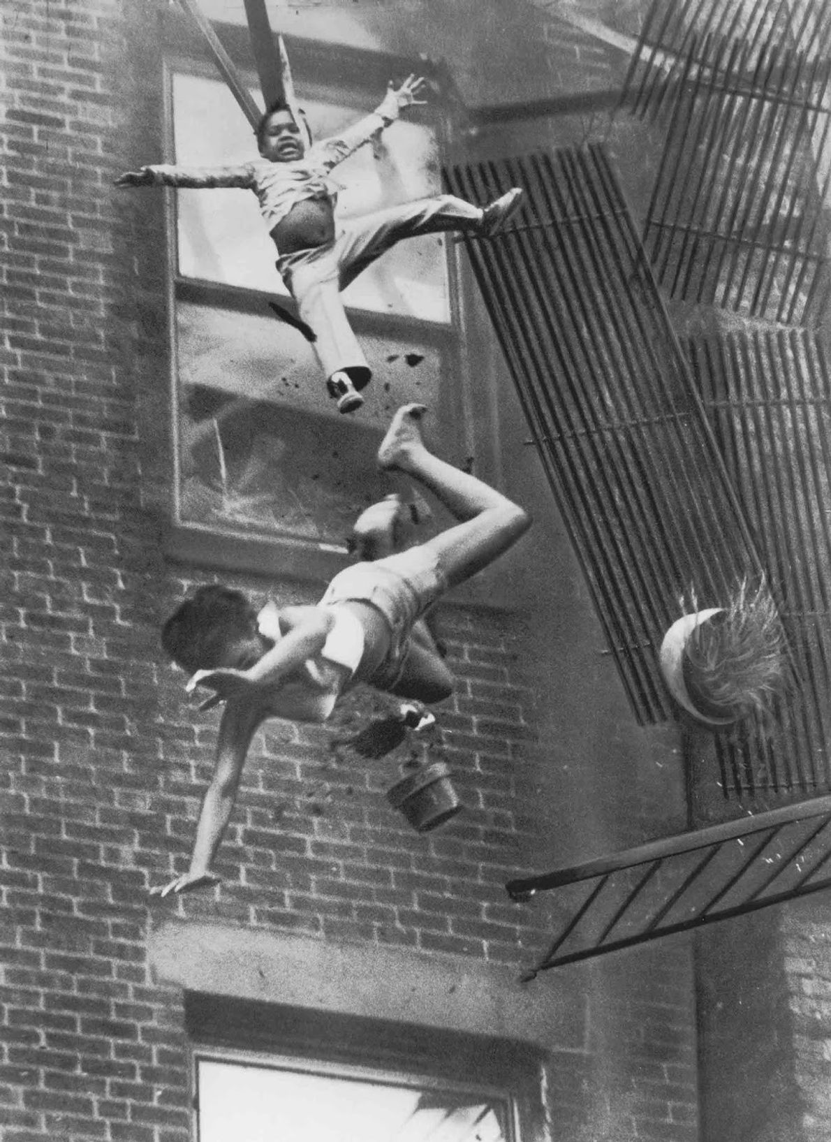 """Fire Escape Collapse"" - Stanley Forman, 1975"