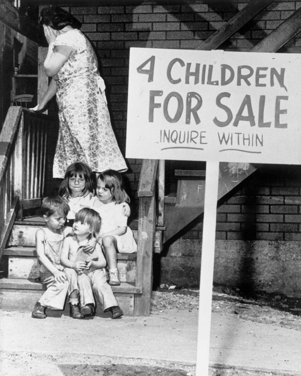 "4 Children for Sale"" – Autor Desconhecido, 1948"