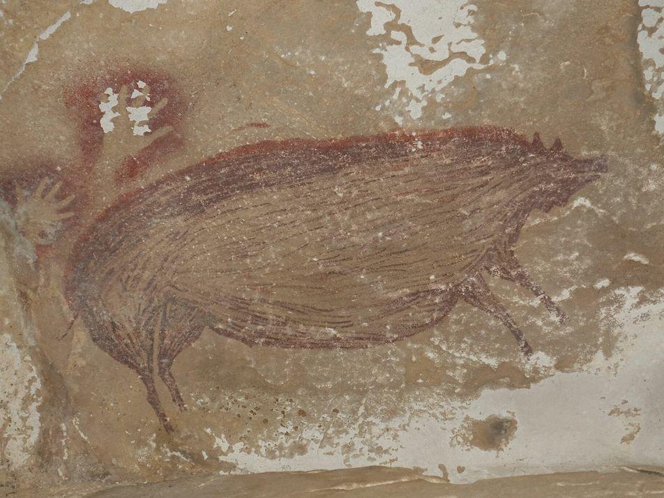 Pintura Rupestre com 45.000 Anos é a Mais Antiga do Mundo com Um Animal