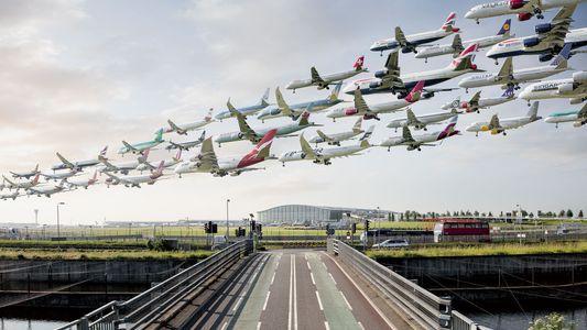 E Se os Aviões Descolassem Todos ao Mesmo Tempo? Veja as Fotografias.